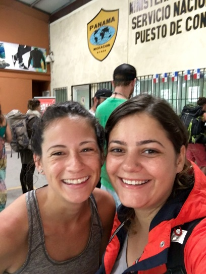 ...and then miraculously running into her in Panama!