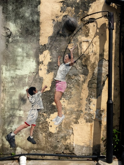 """Children Playing Basketball"" by Louis Gan"