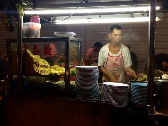 Food stalls at the night markets