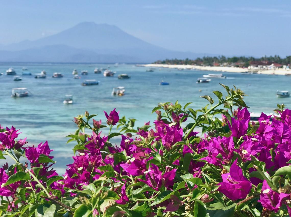 View of Mount Batur, Nusa Lembongan, Bali