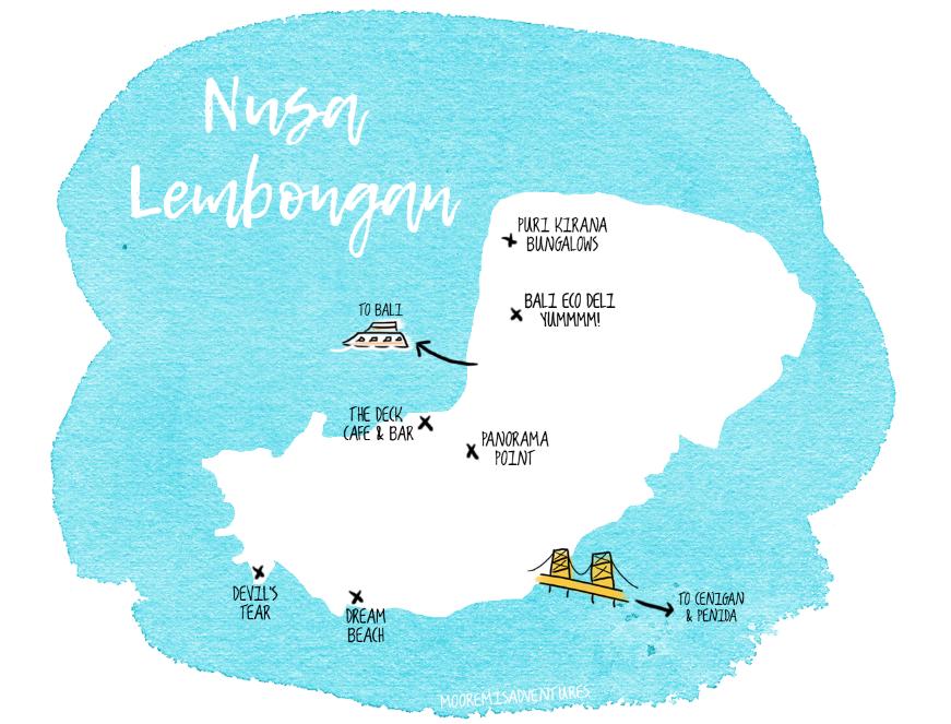 Nusa Lembongan Map